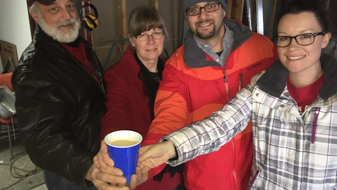 Justin, Lonnie, John and Kathy Cross are all in for a new brewery in Glendive.