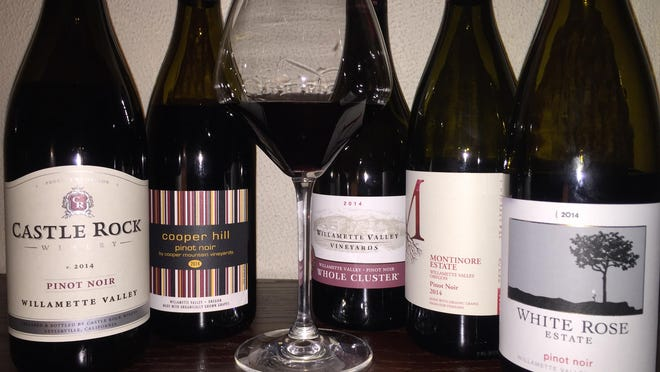 These are among the 2014 Oregon Pinot noirs already on the local wine shelves.