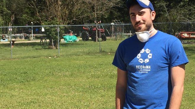 Nechama Jewish Response to Disaster staff member Ross Topol at home on Lakeview Road in Caddo Parish.