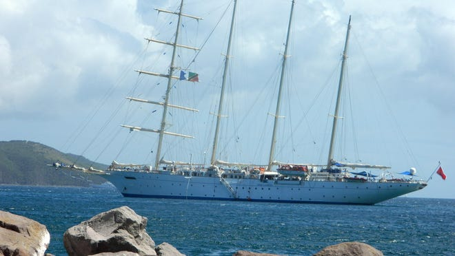 Traveling aboard a clipper replica is a totally different way of cruising, especially around the Caribbean.