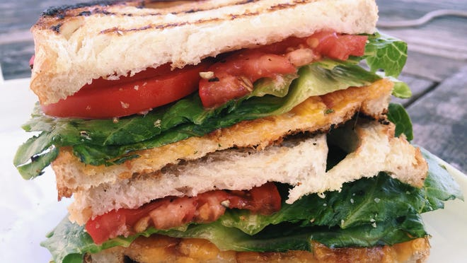 Two favorite sandwiches, the BLT and the grilled cheese, come together as one.