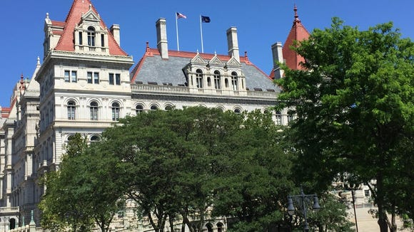 A view of the New York state Capitol in Albany.