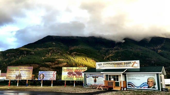 The visitor center at God's Ten Commandment Park east of Columbia Falls is open daily, about 10 a.m. to 5 or 6 p.m., with free magnets, discounted signs and snacks.