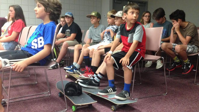 A group of skateboard-toting youngsters attended a Milford Village Parks & Recreation Commission meeting last week in hopes of gaining support for a new skate park in the village.