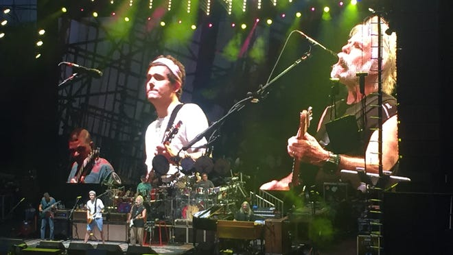 Dead & Company, featuring John Mayer (center) and Bob Weir (right) performed recently at the Irvine Meadows Amphitheatre in what could have been their last concert tour.