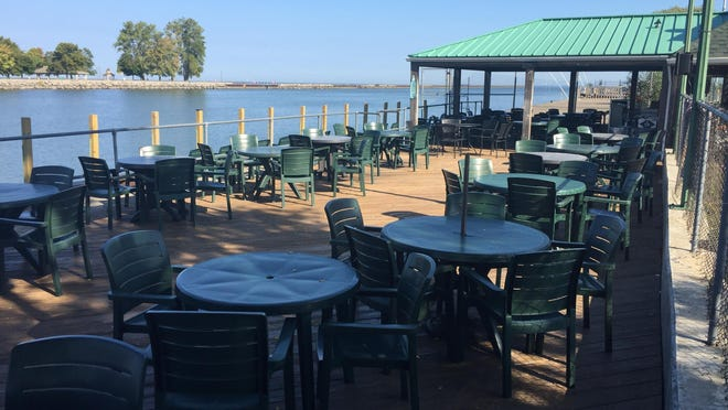 O'Louglin's customers can still sit outside for an up-close look at boats going by.