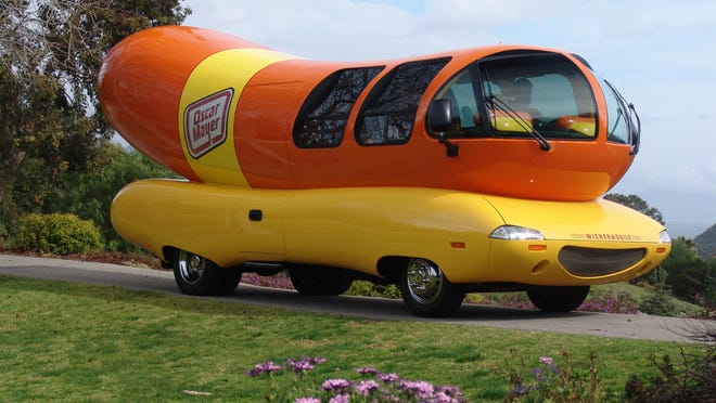 """The Oscar Mayer Wienermobile was first introduced in 1936. """"The Oscar Mayer Weiner Song"""" helped make the company a household name in the '60s."""