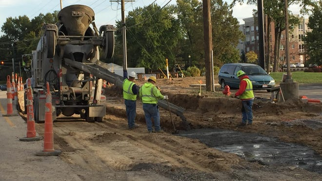 Work like this on Aicholtz Road Connector project in Clermont County is only a memory with the project now finished.
