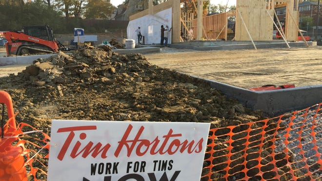 Construction is underway on a Tim Hortons at 3163 Dixie Highway, Erlanger, site of a former Long John Silver's. Tim Hortons is a Canada-based fast food restaurant known for its coffee and doughnuts. Construction is expected to be completed by the end of the year.