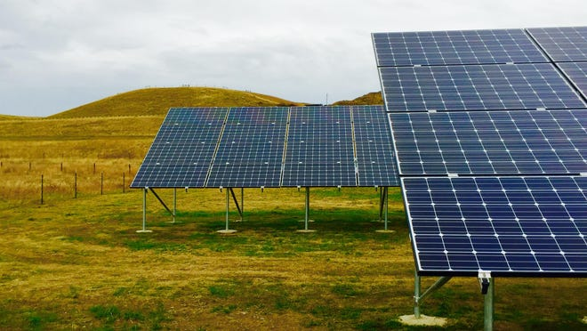 A NorthWestern Energy solar pilot project near Deer Lodge.