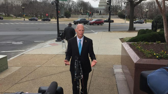 Gov. Rick Scott is in Washington, where he has been spending time with President Trump.