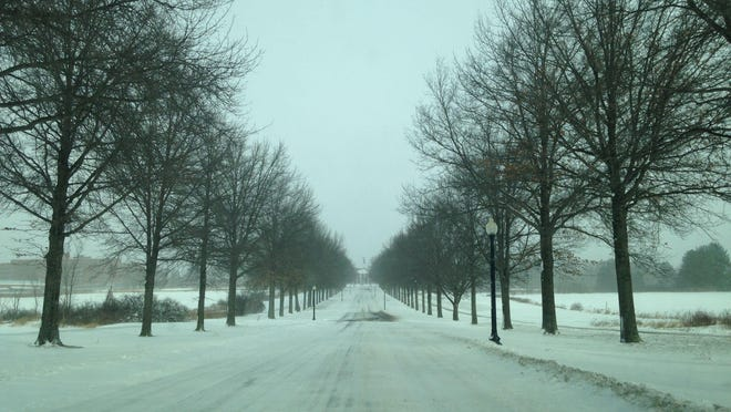 The roadway leading to Central New York Psychiatric Center in Marcy.
