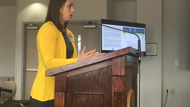In this 2020 file photo, Davidson County Health Director Lillian Koontz speaks to Davidson County commissioners about how the public health community is trying to respond to the opioid epidemic.