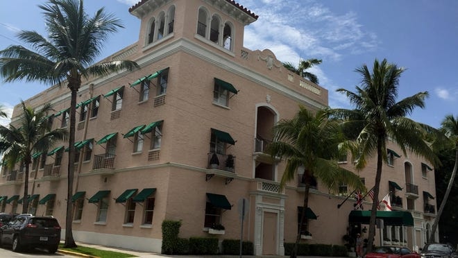 Saturday's fire at The Chesterfield damaged a 20-foot section of the parapet on the  west-south side of the building, according to Palm Beach Fire Rescue.