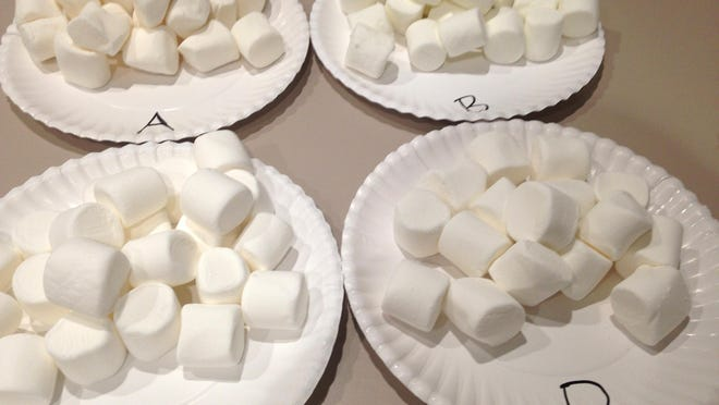 The marshmallow test was a psychological test that indicated a child' ability to defer gratification.