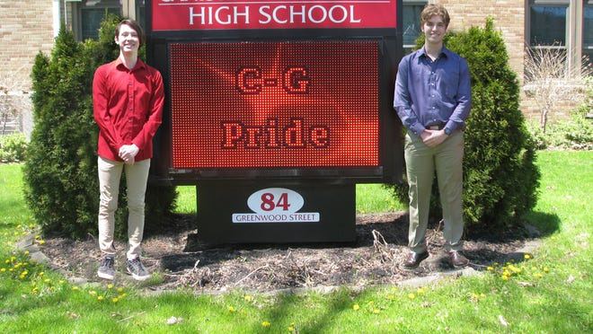 Valedictorian Zachary Paul Greenfield and Salutatorian Dylyn Bailey of the Canisteo-Greenwood Class of 2020.