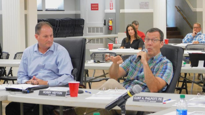 City Manager Robby Hefton speaks during Sherman's  City Council budget retreat on Thursday. The city does not anticipate raising property taxes despite a tight budget from the ongoing COVID-19 pandemic.