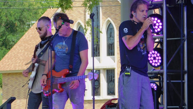Former Creed frontman Scott Stapp warms up ahead of his Thursday-night performance as a part of Sherman's Hot Summer Nights.