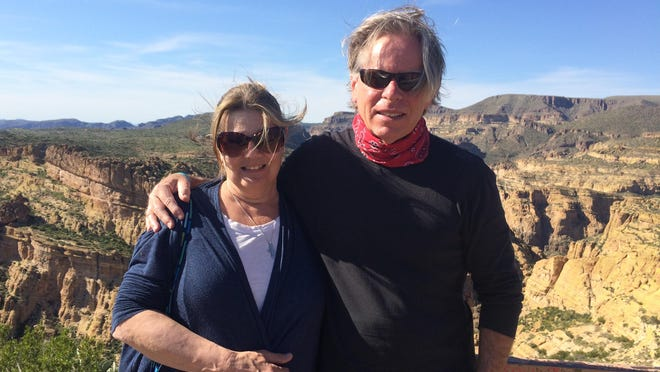 JoAnn Huber and Timothy Cunningham, in Arizona, during one of their many happy adventures.