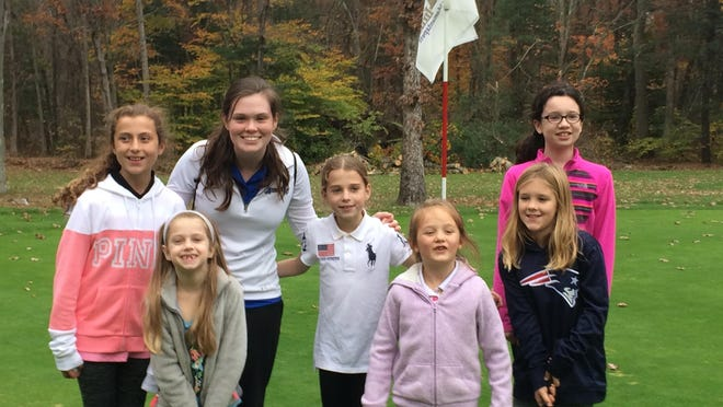 Hingham native Samantha Leary spends a good deal of her summer teaching the game of golf to young girls.