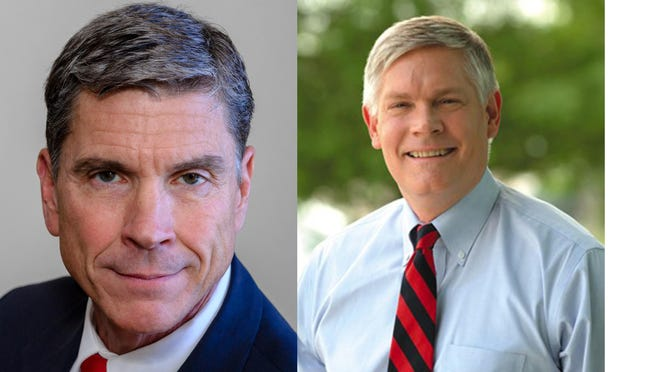 Former U.S. Rep. Pete Sessions (right), a Republican, is running for the 17th congressional district in Texas. Democrat Rick Kennedy (left) is challenging him for the seat.