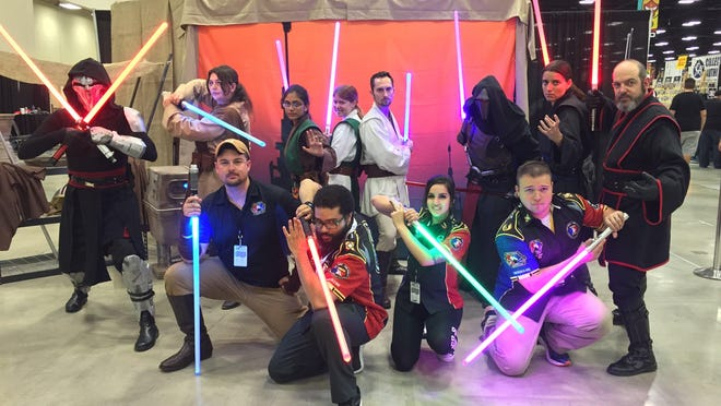 Members of the Saber Guild cosplay group were part of the Pflugerville Library Comic Con in 2017. This year's event on Sept. 26 will be online.