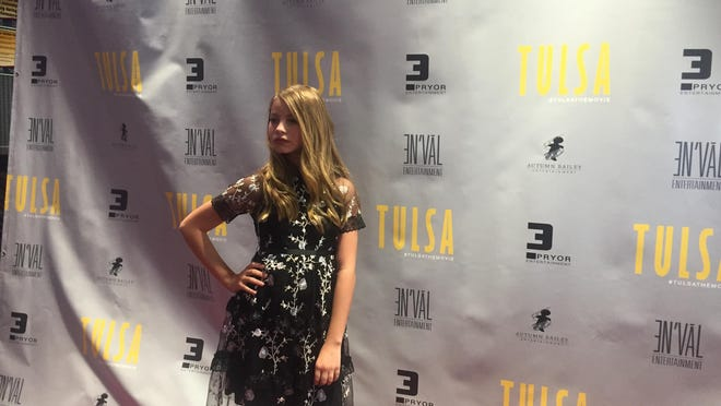 "Actress Reese Gould, 11, the red carpet at the premiere of ""Tulsa"" at the Regal Augusta Exchange Saturday, August 22, 2020."