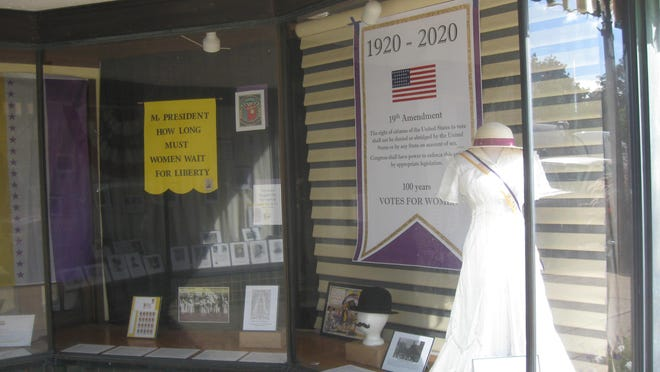 The U.S. 12 Heritage Chapter of the Daughters of the American Revolution have placed an informative display on the women and history of the 19th Amendment at 16 W. Chicago St., Coldwater.