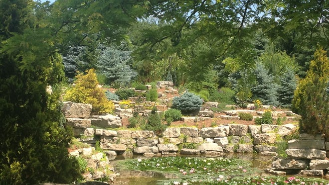 The sweeping quarry garden of Carl and Karen Vanden Heuvel, Seymour, is a stunning example of what families can build together. More than 400 varieties of hostas and many varieties of dwarf conifers dominate the many layers found in the rock gardens here.