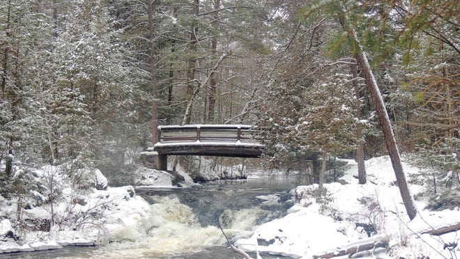 Residents of east-central and northeast Wisconsin can be thankful for the spectacular beauty of the many wild places in the region. Here, Veterans Falls County Park in Marinette County sparkles, even on the coldest wintry day.
