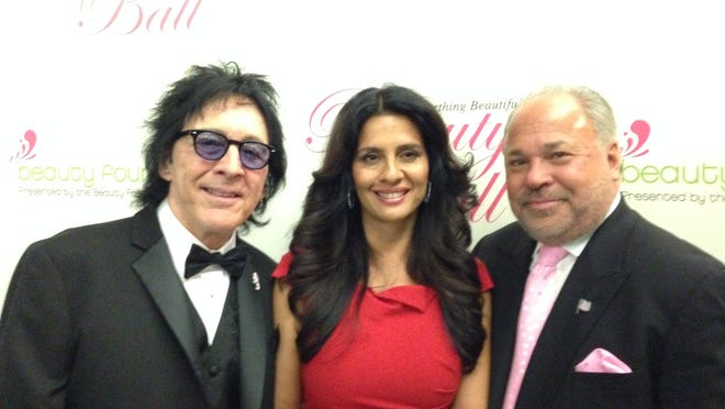Peter Criss of Kiss, Margo Urban of the Cover Girls and Bo Dietl of Fox News at the Beauty Foundation for Cancer Care's 9th annual Beauty Ball, held Saturday, March 14 at the Robert Collins Arena on the campus of Brookdale Communuty College in Lincroft.