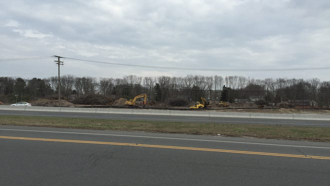 Cleared land across from Best Buy near Salem Hill Road on Route 9 North. Local residents opposed the amount of trees razed.