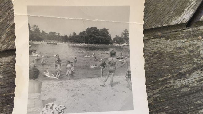 Children play on the beach of Godfrey Lake in Brick in this undated picture from the 1950s.