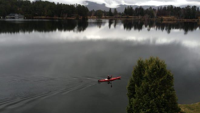 Mirror Lake in Lake Placid.