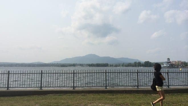 Lake Memphremagog as seen from Magog.