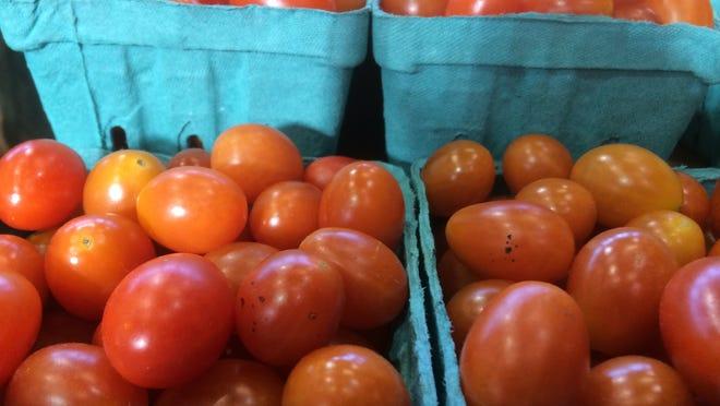 Tomatoes from Lewis Creek Farm in Starksboro at the Burlington Farmers Market.