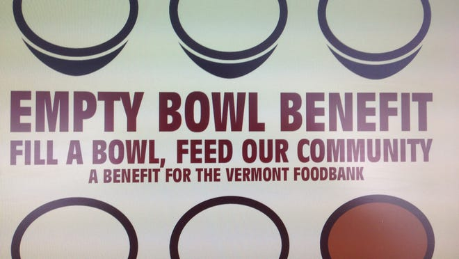 A benefit for the Vermont Foodbank will be held Feb. 15 at the Mud Studio in Middlesex