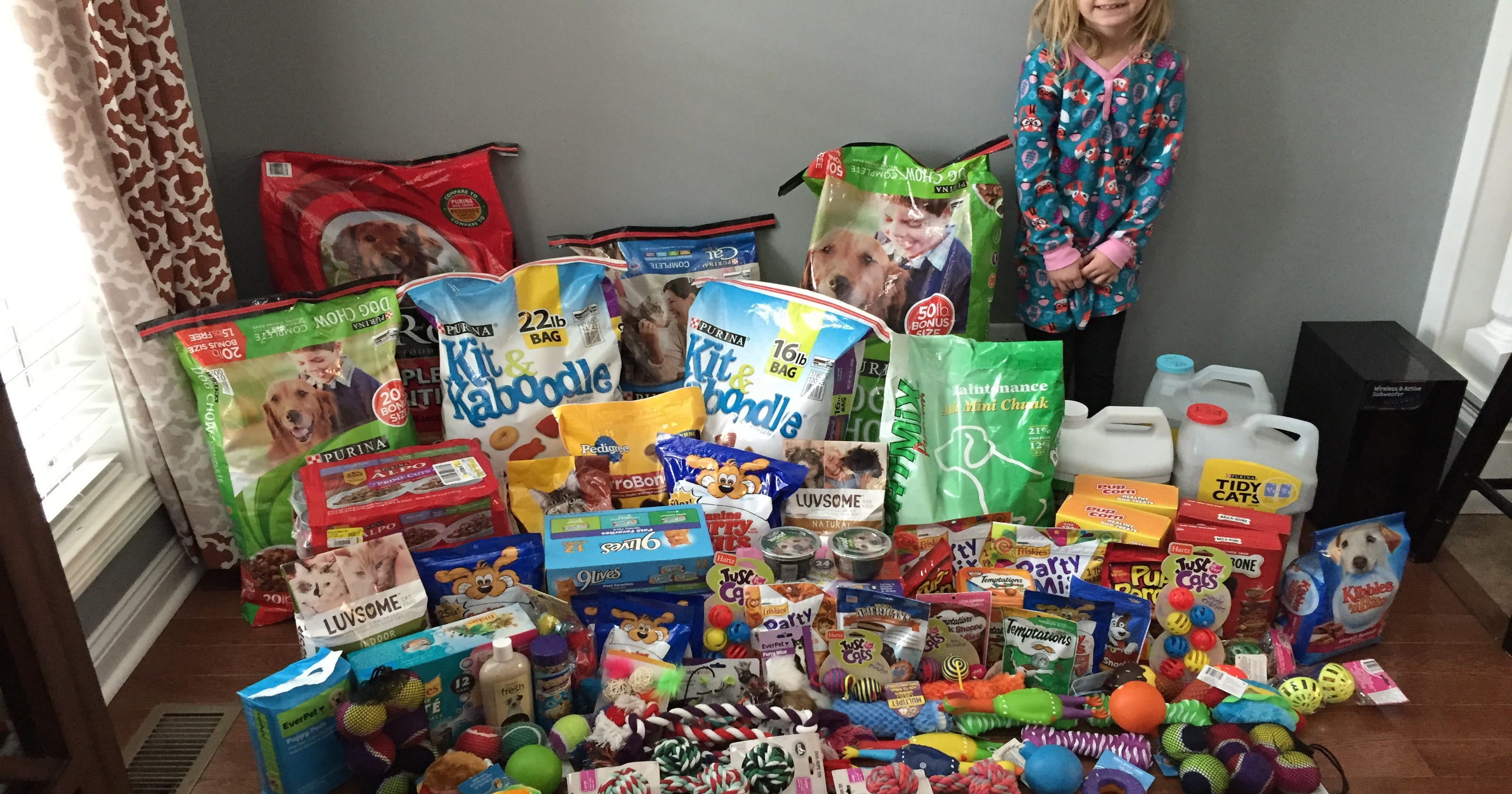 7 Year Old Collects Humane Society Donations For Birthday Gifts