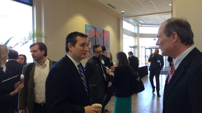 """U.S. Sen. Ted Cruz, R-Texas, spoke to 200 Iowa religious leaders on Monday at the American Renewal Project's """"Pastors and Pews"""" event in Des Moines."""