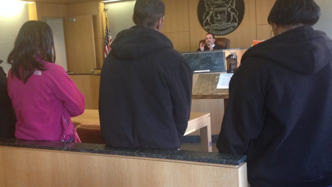 Wayne County Circuit Chief Judge Robert Colombo Jr. talked to about 60 people who have failed to show up for jury service during hearings Oct. 30, 2014.