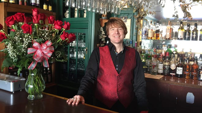 Michael Skinkle-Hill, mixologist at Charlie's Cafe in Elmira, has a vast selection of Valentine's Day cocktails on the menu for patrons.