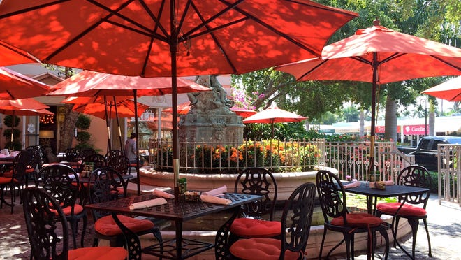 The patio at Jane's Cafe in Naples adds to its popularity.