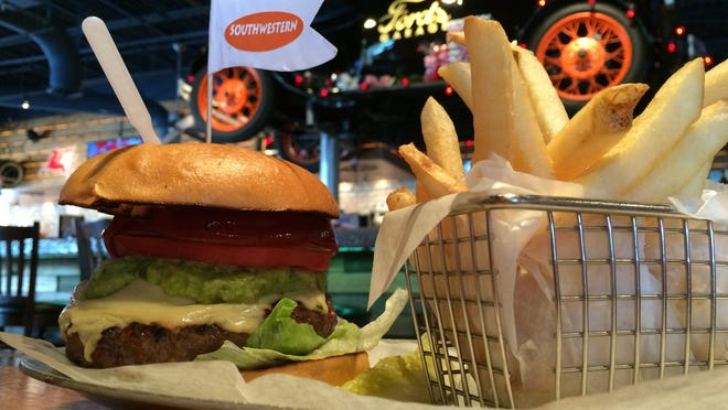 The Southwestern burger is a Hot Dish from Ford's Garage.
