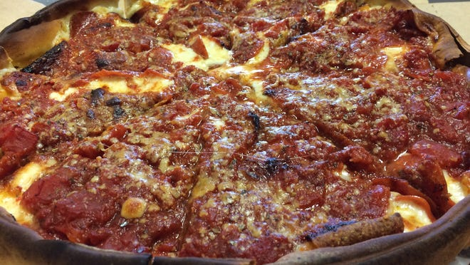 The Chicago-Style Deep Dish from Rosati's of Estero.