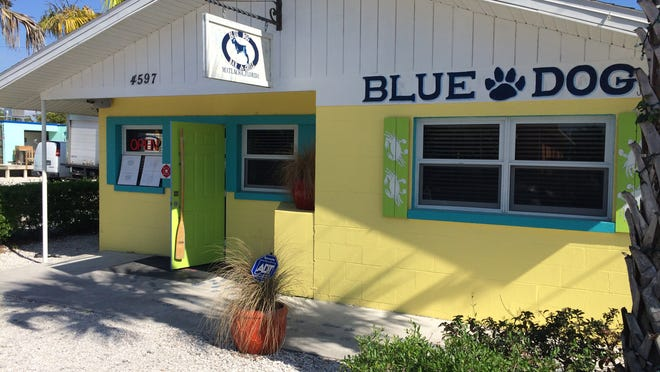 Blue Dog Bar & Grill sits in the old Mulletville space on Pine Island Road in Matlacha.