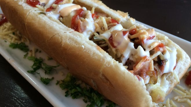 A Colombian-style hot dog from Don Perro in Cape Coral.