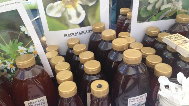 Black Mangrove Honey found at the Coconut Point Farmers Market