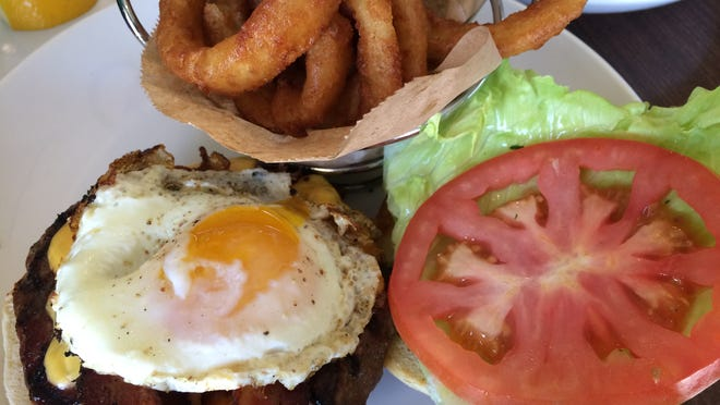 The Hangover Burger from Duffy's Sports Grill in Estero.