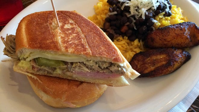 The Cuban sandwich, made with house-roasted pork, from Hart & Soul Cafe
