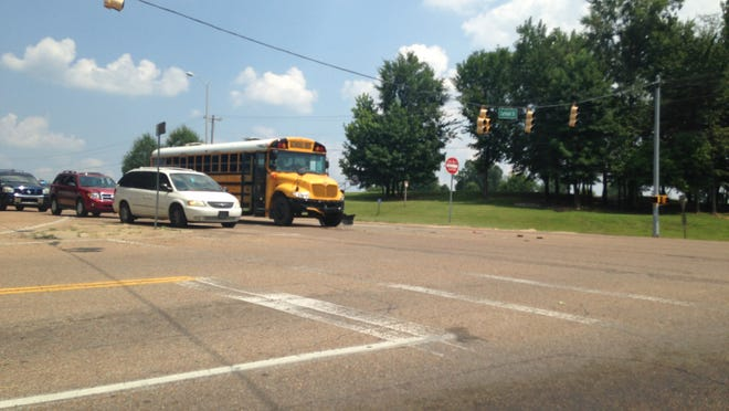 At 2 p.m. Monday, police and EMS responded to an accident involving a school bus and a car.